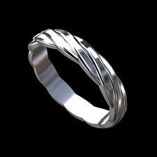 14K White Gold Women's Eternity Wedding Band 3.5 mm Wide
