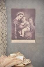 Jeanne d´Arc Living Poster Banner Madonna and Child 29,5x42 JDL Shabby Vintage