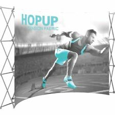 HopUp Curved 4x3 Trade Show Display with Front Graphic
