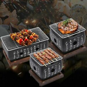 Portable Japanese Grills Charcoal Aluminium Alloy Indoor Outdoor Camping Picnic