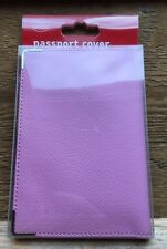 Pink Luxury Passport Cover/New With Tags/Holds Uk Passport/Travel/Protects