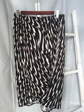 Lovely •Country Road• Abstract Print Stretch Wrap Skirt Size 10 S EUC