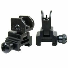 tactical Flip Up Front and Rear Iron Sight Combo Set US Seller  .223 5.56