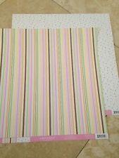 Doodlebug Designs Sugar & Spice Sweetie Pie Stripe 12x12 paper 2 pieces