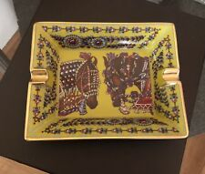 Hermes Ashtray Posacenere Cendrier Porcelain Limoges La Danse Du Cheval Marwari