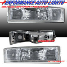Set of Pair Euro Clear Signal Bumper Lights for 1995-2005 Chevrolet Astro Van