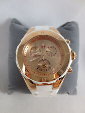 NEW Michele Large Tahitian Jelly Bean White Rose Gold Watch MWW12F000030