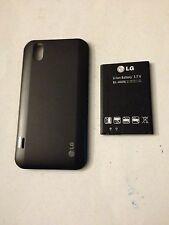 Oem Original, Lg Marquee Ls855 (Boost Mobile) Gray Battery & Back Cover Door