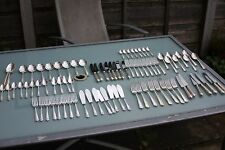 VINTAGE T E OSBORNE DUBARRY DESIGN SILVER PLATED CANTEEN CUTLERY 8 PLACE SETTING