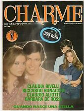 fotoromanzo CHARME ANNO 1980 NUMERO 450 RIVELLI BONACCHI ALIOTTI DE ROSSI