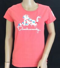 Ladies Drunknmunky Coral Pink 'Paintball' T.Shirt. Size 10 BNWT