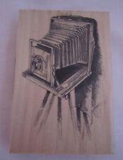 Inkadinkado Wood Mount Vintage Camera NEW  #60-00732