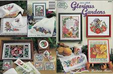 Glorious Gardens ASN cross stitch leaflet Barbara Baatz flowers butterflies
