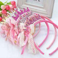 CROWN Head/Hair band Toddler/Infant   Princess Tiara  Gold/Silver/Pink Glitter
