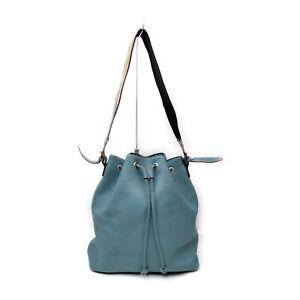 Burberry London Shoulder Bag  Blue Leather 1728520