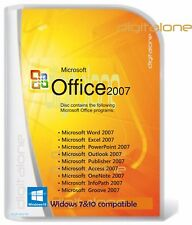Microsoft Office for Windows 7 &10 Word,Excel,Power Point etc Full DVD 3 PC user