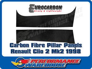 CARBON FIBRE PILLAR PANELS (PAIR) RENAULT CLIO 2 MK2 ALL 3 DOOR 1998