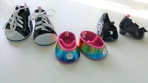 3 PAIRS OF BUILD-A-BEAR WORKSHOP SHOES, VGC