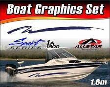 Boat Graphic Sticker Kit, Vinyl stripe decal for Marine or Automotive. SS_1A1800