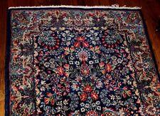 Antique Estate Genuine  Hand Made Persian Kerman Rug Carpet 5' X 3'