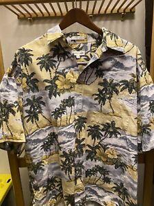 Pierre Cardin XL Floral Hawaiian Casual Button Up Short Sleeve Shirt