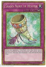 Grand Horn of Heaven PGL3-EN040 Gold Secret Rare Yu-Gi-Oh Card 1st Edition New