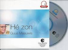 GUUS MEEUWIS - He Zon CD SINGLE 2TR CARDSLEEVE 2003 HOLLAND RARE!