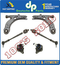 VW Golf Jetta Beetle Control Arm Ball Joint Joints Bushing Tie Rod Rods Kit 6 Pc