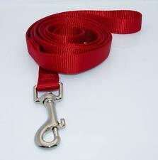 """NEW 6' Dog Nylon Leash Lead Red Medium 3/4"""" W"""