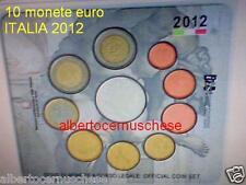 2012 10 monete 10,88 EURO ITALIA BU Italie Italien Italy 5 € Sistina 2 € TYE EMU