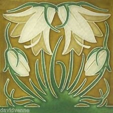 Tan Blooming Flower Tile pattern 12 x 12 inch mono deluxe Needlepoint Canvas