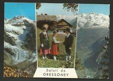 AD8386 Aosta - Provincia - Saluti da Gressoney - Vedute