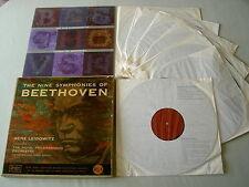 BEETHOVEN The Nine Symphonies Leibowitz vinyl 7LP box set