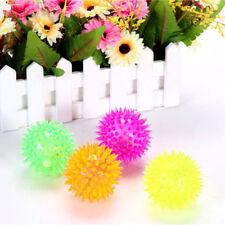 Flashing Light Up Spikey High Bouncing  Balls New Sensory Hedgehog Ball Toy JX