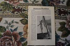 1929 Fachbericht Velhagen 672 Nienburg Saale / Speer-Klausner Goethe Dornburg