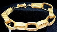 18K Gold Yellow Solid Roberto Coin RUBY Bangle LINK Bracelet One Size NEW $4,445