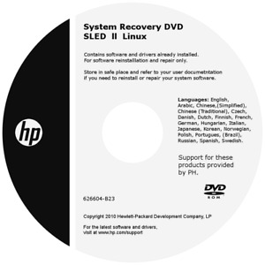 System Recovery DVD SLED ll Linux