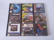 Playstation 1 ps1 Rennauto Spielepaket x 9 V Rallye TOCA 2 Colin McRae SC