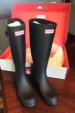 Hunter Womens Black Matte Rubber Rain BOOTS Original Tall 8med
