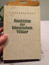 EXCELLENT CONDITION 1939 Geschichte Der Islamischen Völker Antique Book