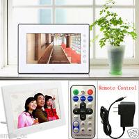 "7""inch HD 16:9 Digital Photo Frame Album Picture MP4 Movie Player Remote Control"