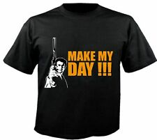 Motiv Fun T-Shirt Dirty Harry Make My Day Eastwood Kino Kult Dvd Motiv Nr. 3069