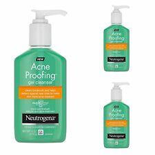 Neutrogena Acne Proofing Gel Cleanser Salicylic Acid Max 3 Pack 6 oz EXP 6/19