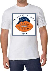 NFL 1946 World Champion Chicago Bears White T-Shirt 100% Cotton men  XL NEW