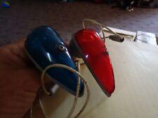 Vintage  nos  Set Of Red And Green Boat Lights glass  lens
