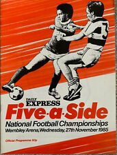 More details for daily express five a side national football championships 1985 (won by oxford)