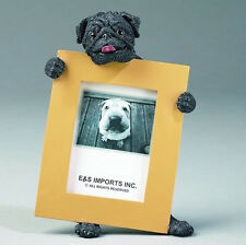 "PUG (BLACK) DOG PHOTO PICTURE FRAME GIFT RESIN 2-1/2""X3-1/2"""
