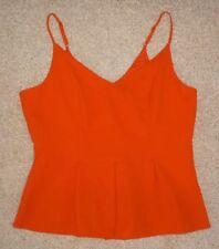 Polyester Sleeveless Peplum V-Neckline Tops for Women