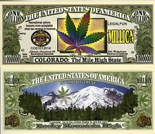 Colorado Recreational Marijuana Million Dollar Novelty Money