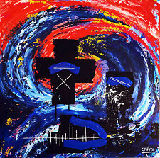 GEMÄLDE abstrakt - C. FANTA - Bild ORIGINAL Kunst Leinwand MALEREI XXL art Acryl